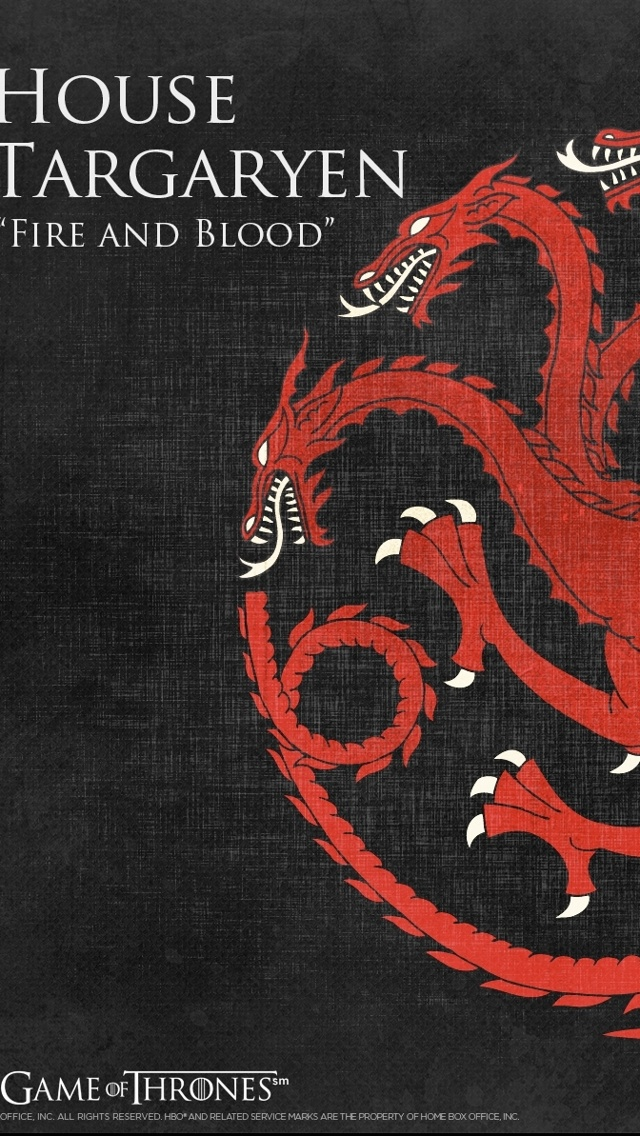 game of thrones iphone wallpaper targaryenTargaryen iPhone 5 Wallpaper 640x1136