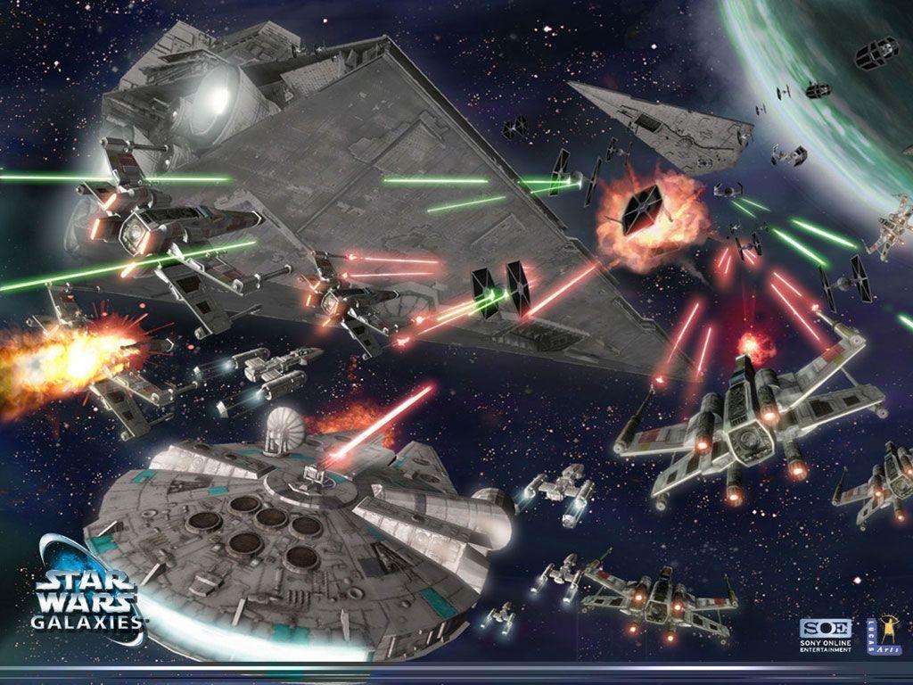 Star Wars Wallpaper, star wars galaxies space battle.jpg 1024 x 768