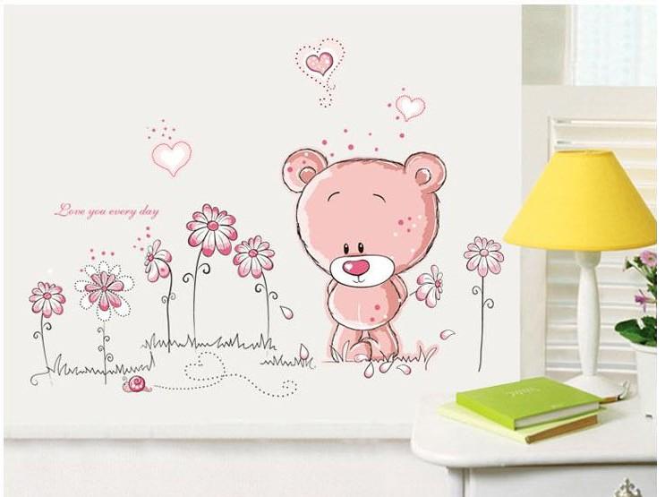 cartoon cute animal princess room decoration wall stickers merry 743x555