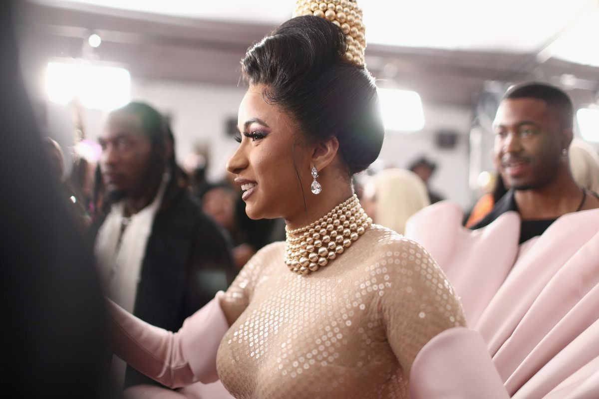Grammys 2019 red carpet Cardi B Bebe Rexha and more fashion   Vox 1200x800