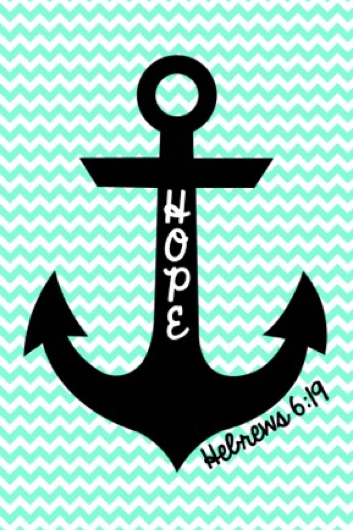 Cute anchor on chevron wallpaper 1200x1800