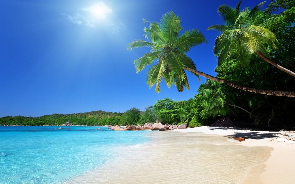 Beach Screensavers and Wallpapers Tropical Beach Scenes 1024640 1024x640