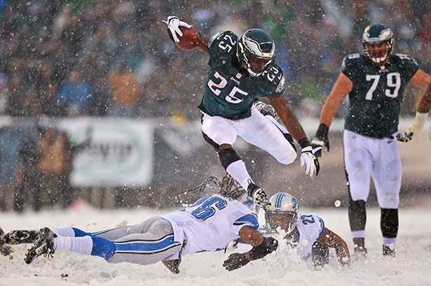 LeSean McCoy photo from the Snow Bowl an Eagles branded playbook 615x409