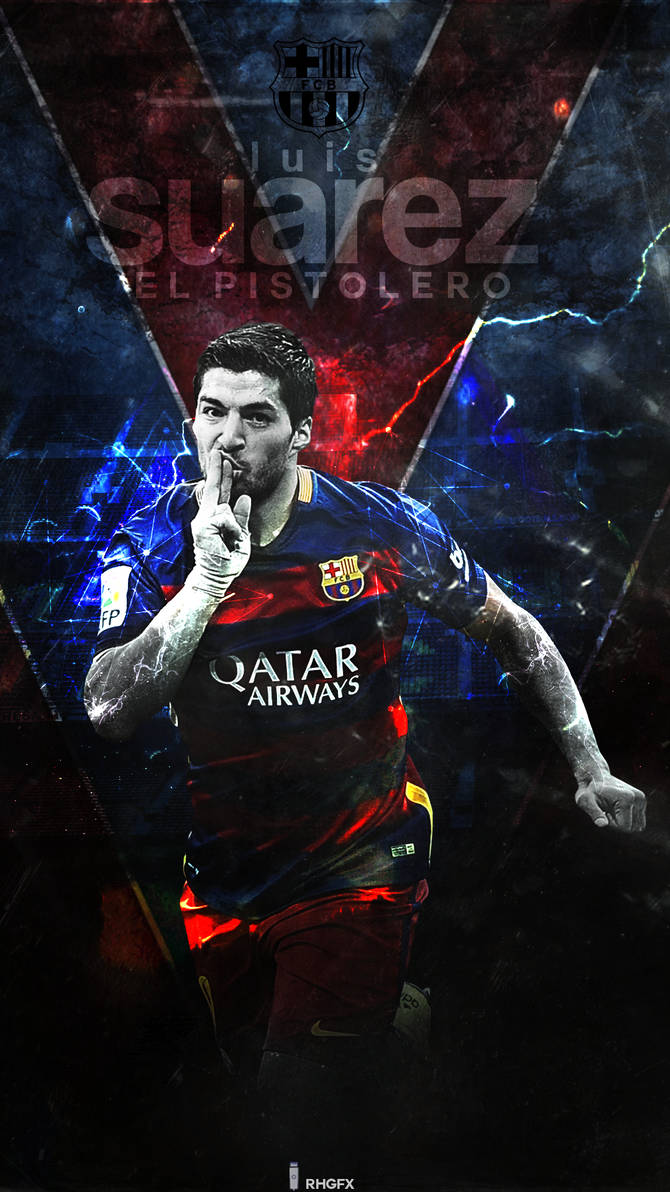 Luis Suarez FC Barcelona 2016 Wallpaper by RHGFX2 670x1192