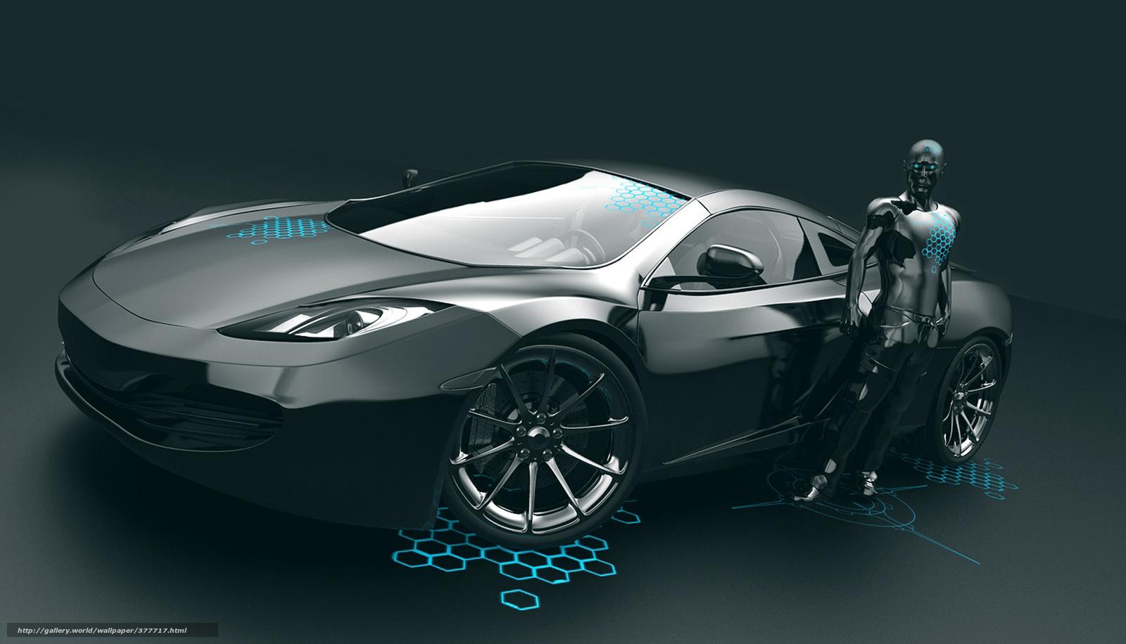Download wallpaper robot Car android desktop wallpaper in the 1600x916