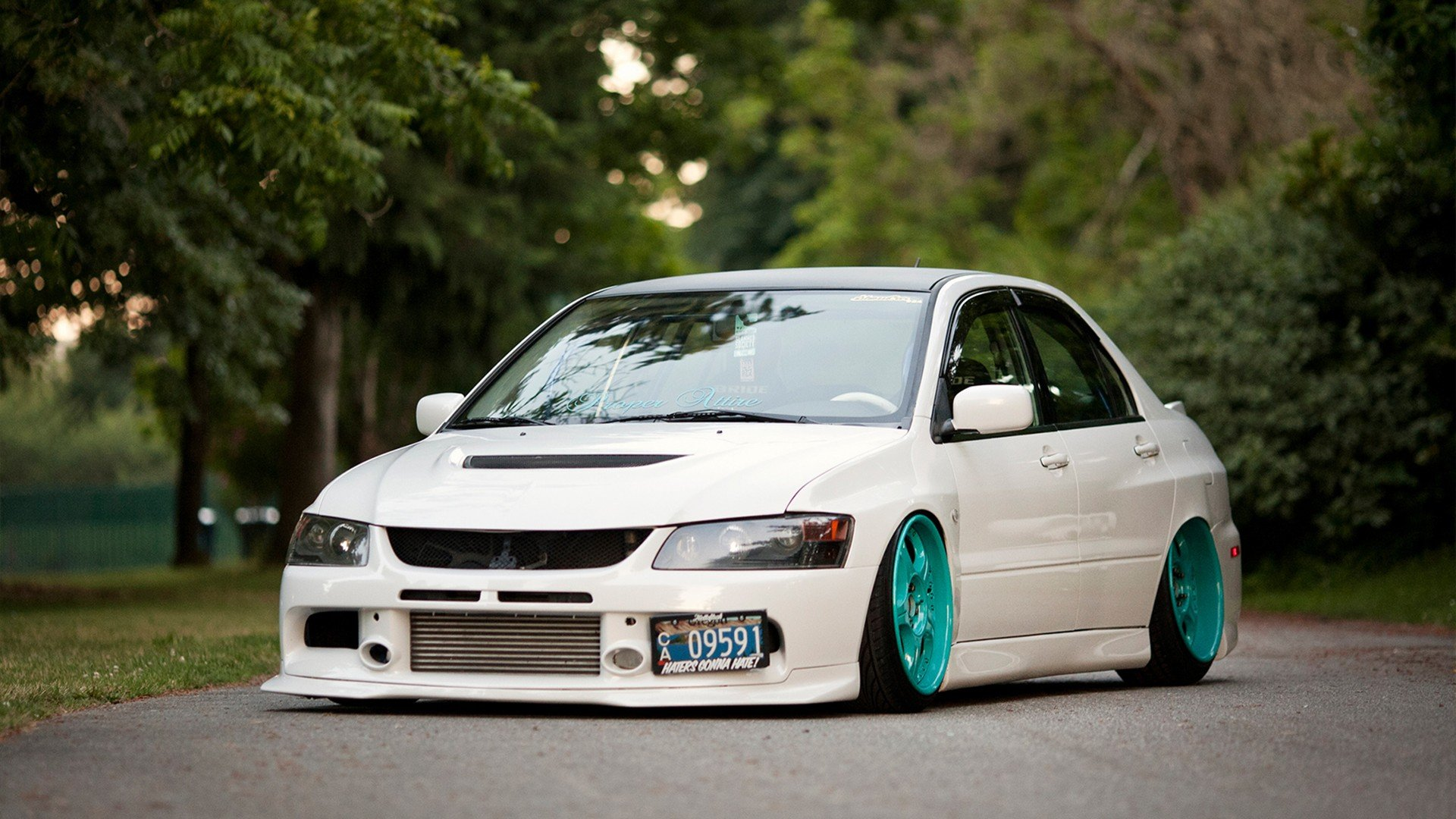 Wallpapers cars Slammed evo Mitsubishi Lancer Evolution IV 1920x1080