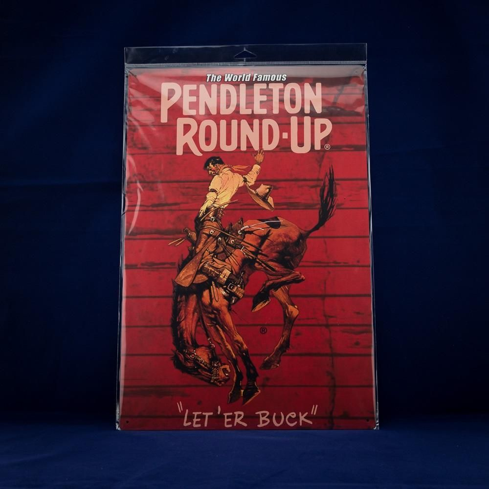 12x18 Pendleton Round Up Metal Barnwood Sign Products Barn 1000x1000