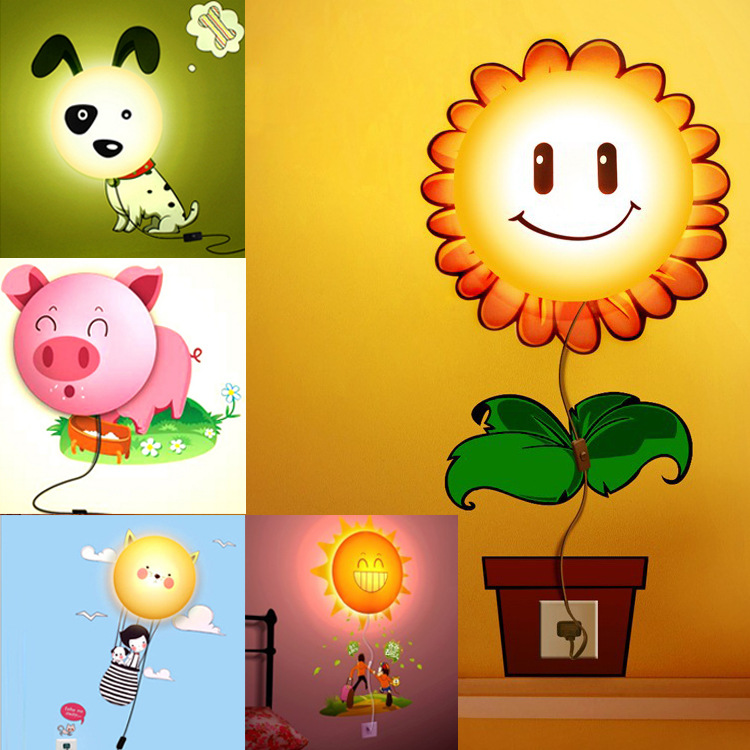 DIY wall lamp wall wallpaper paste stickers bedside lamp plugged 3D 750x750