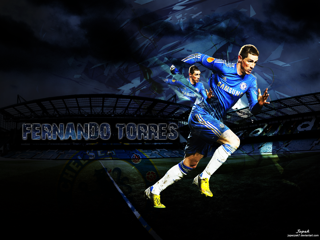 Fernando Torres Desktop Background   Football Wallpaper HD 1024x768