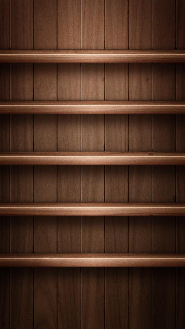 Dark Brown Wood Shelves iPhone 5 Wallpaper HD Wallpapers in 2019 640x1136