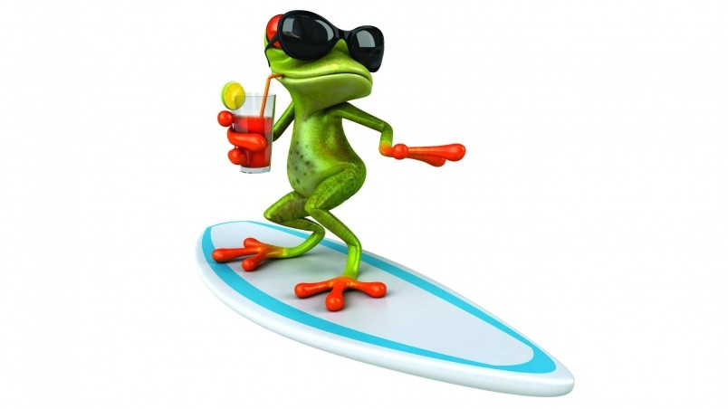location Home Anime animated Cartoons 3d frog surfing wallpaper 804x452