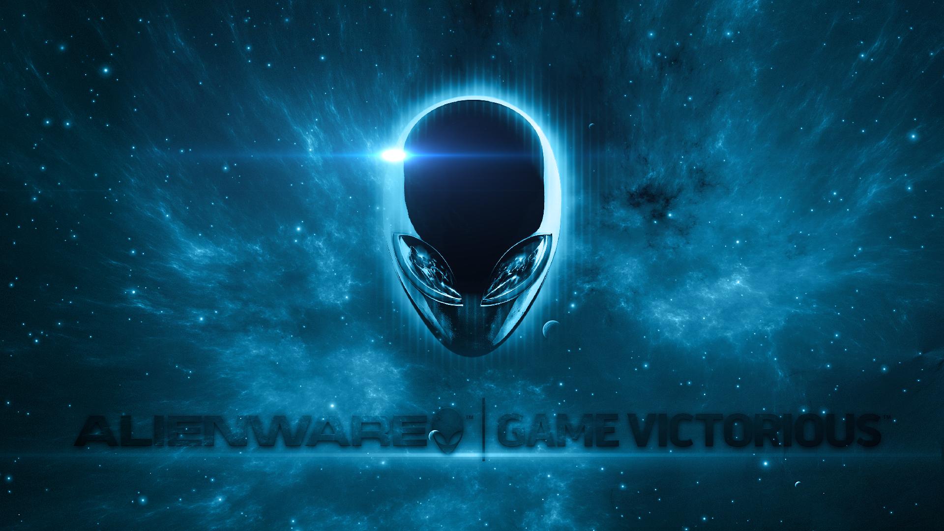 blue alienware wallpaper wallpapersafari