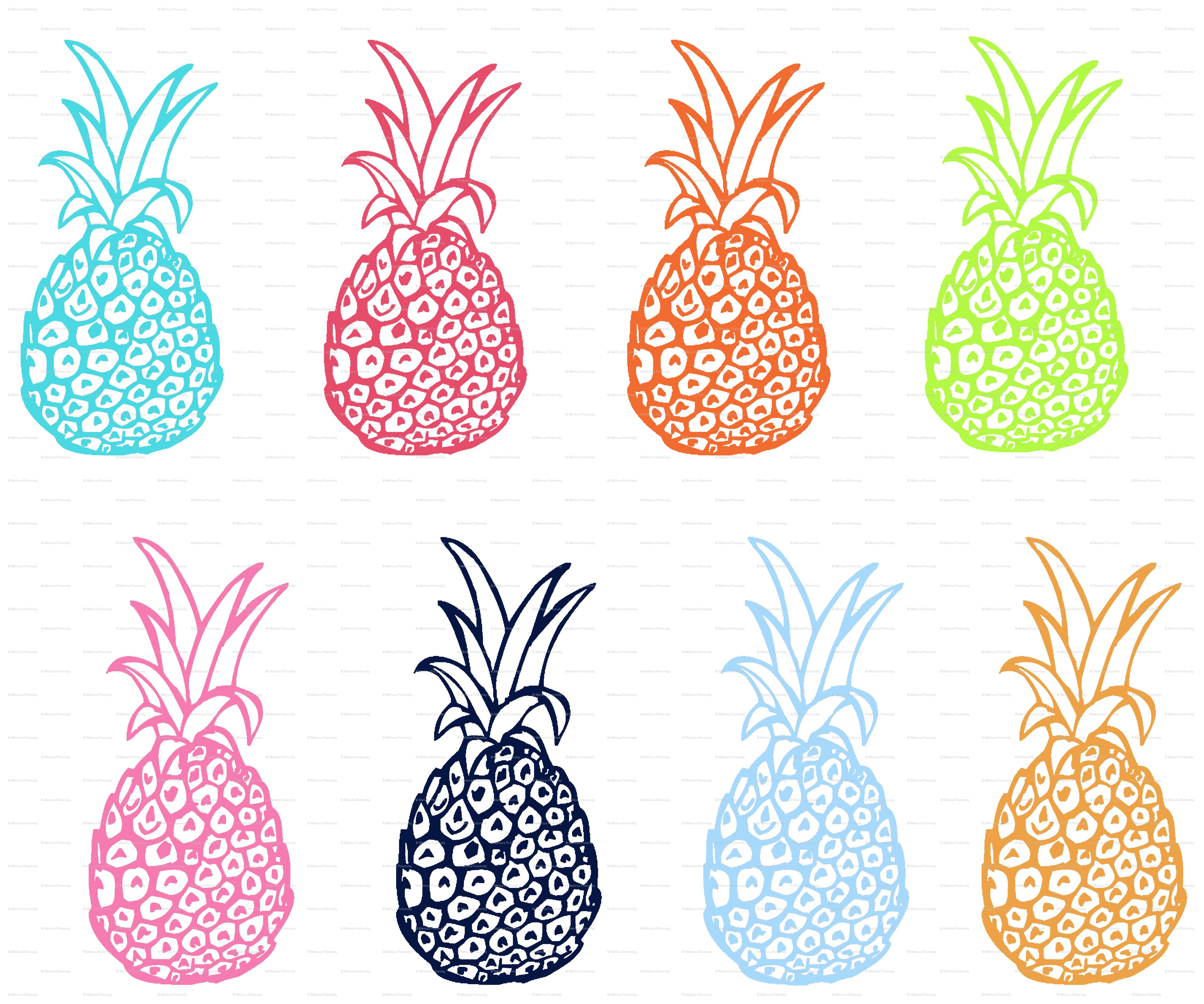 Pineapple Wallpaper Patterns Cute 4500x3750