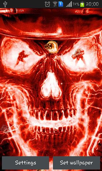 Fire skulls   live wallpaper screenshots How does it look Fire skulls 330x550