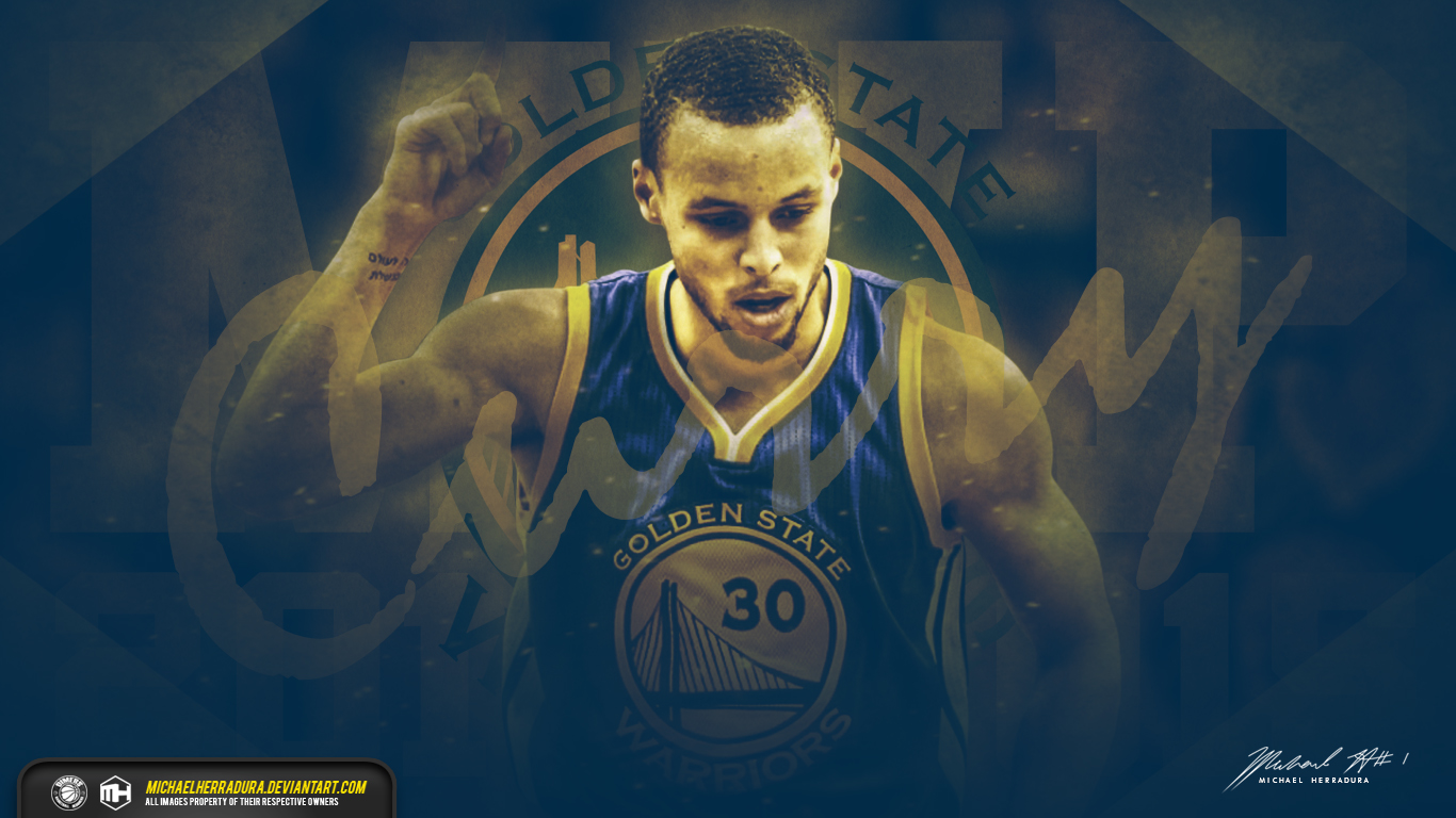 Stephen Curry MVP wallpaper by michaelherradura by deviantartcom 1366x768