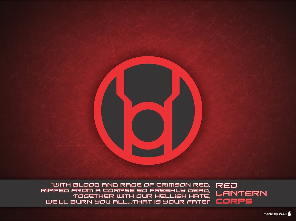 Red Lantern Corps Wallpaper by Willianac 1034x772