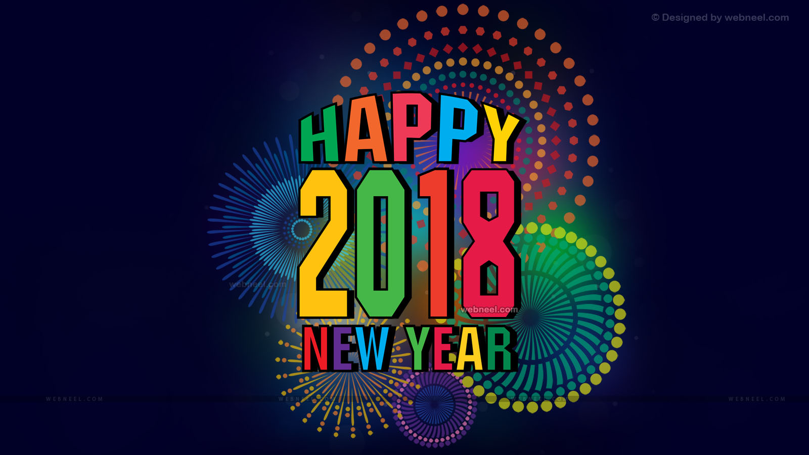 2018 wallpaper happy new year 2018 happy new year 1600x900
