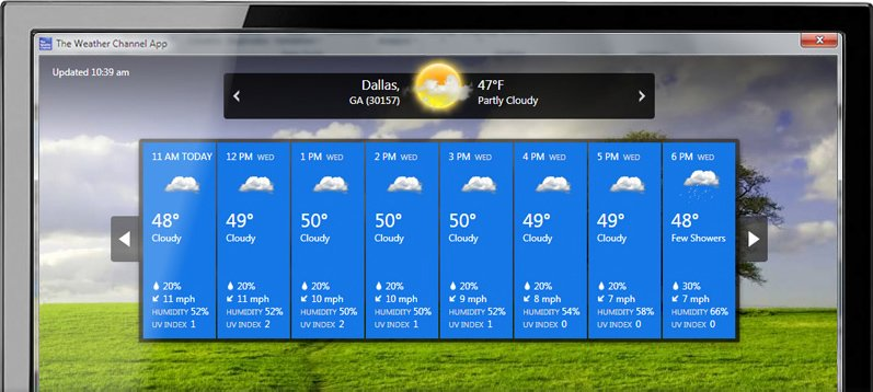 windows 10 weather wallpaper