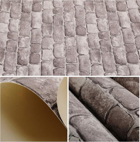 embossed textured wall wallpaper roll 3d stone papel de parede vintage 536x543