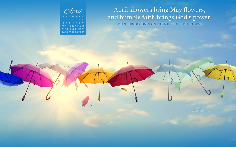April 2016   Gods Power Desktop Calendar  April Wallpaper 1440x900