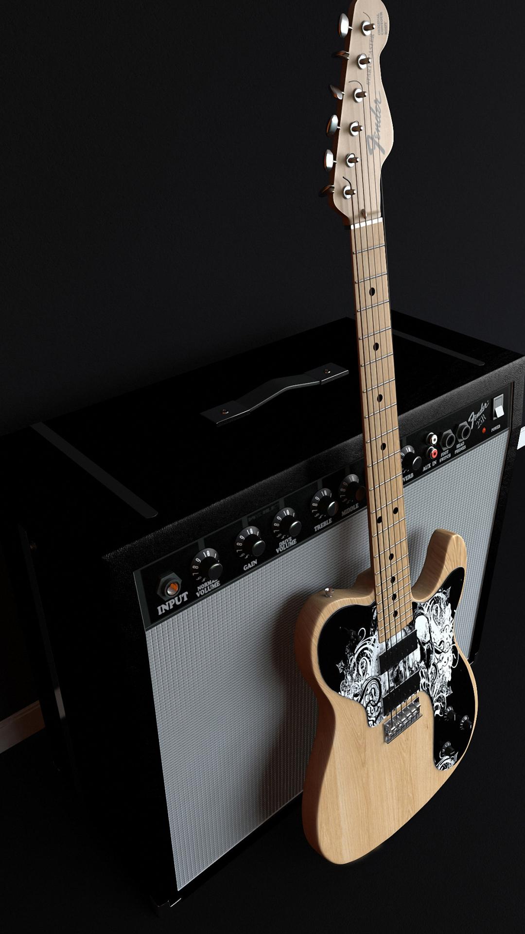 1080x1920 Fender Music Guitar iphone 6s plus Wallpaper HD 1080x1920