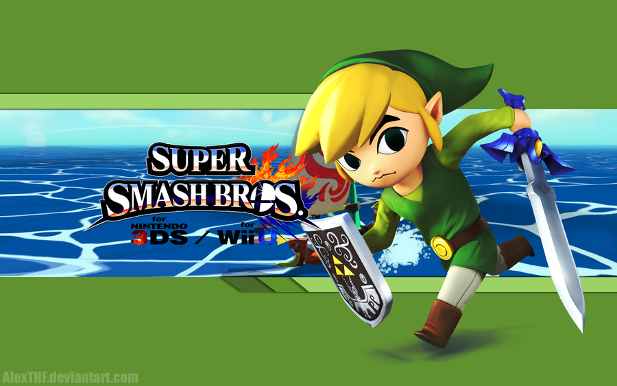 Toon Link Wallpaper   Super Smash Bros Wii U3DS by AlexTHF on 900x563