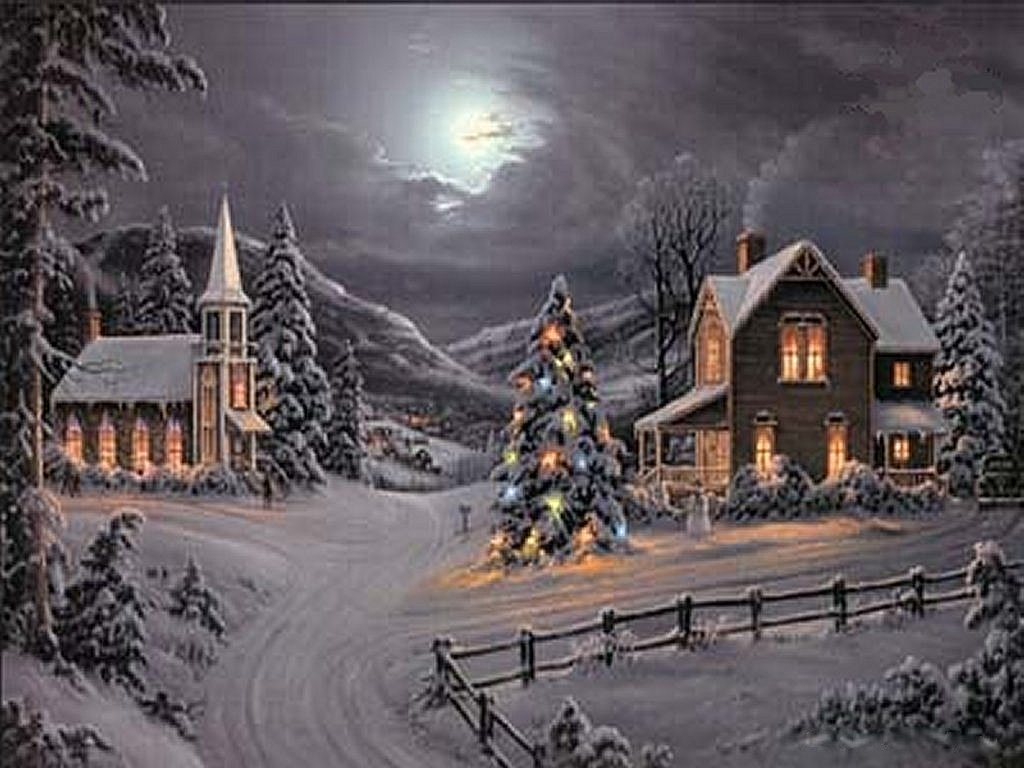 Christmas Village wallpaper   ForWallpapercom 1024x768