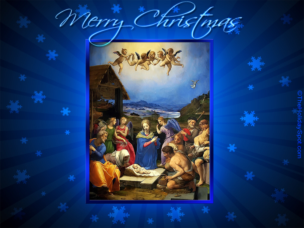 Christmas Wallpapers   Birth of Jesus 1024x768