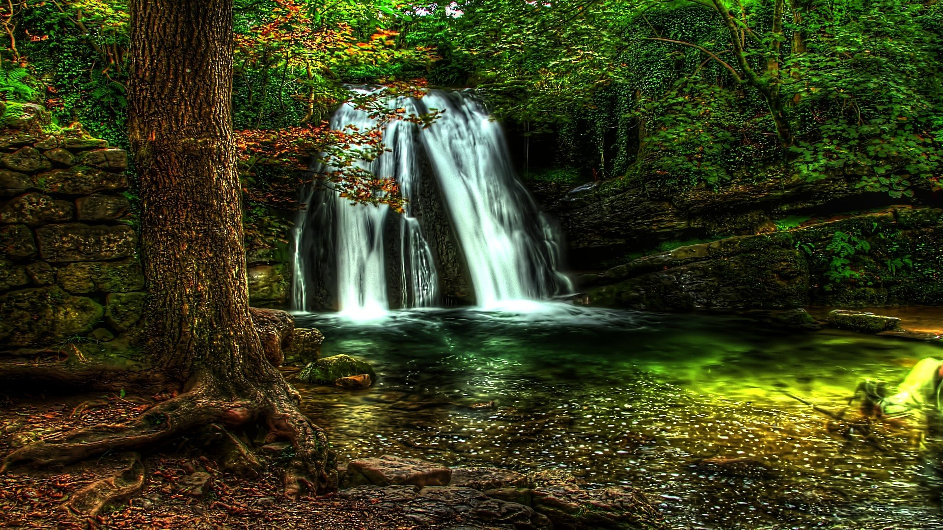 Waterfall Hdr wallpaper   783300 1920x1080