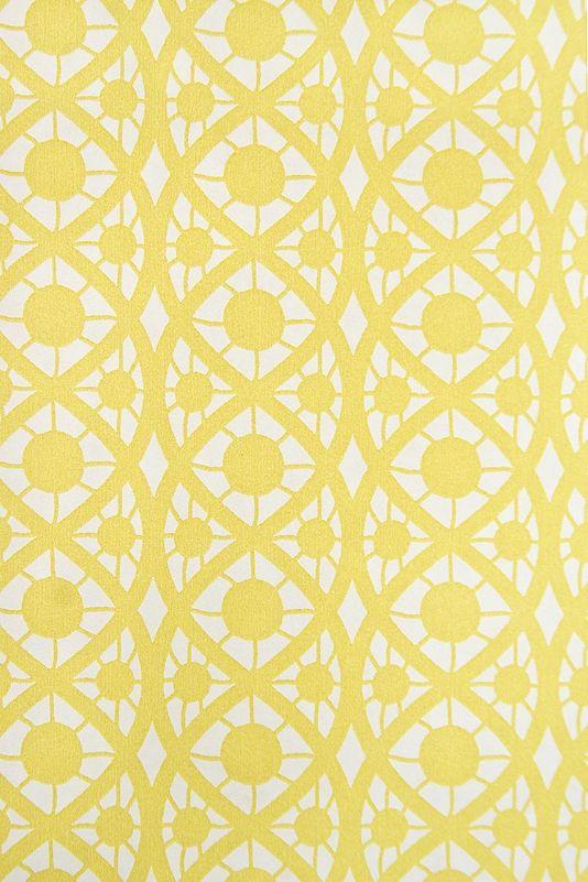 Pale Yellow Geometric Wallpaper Wallpapersafari