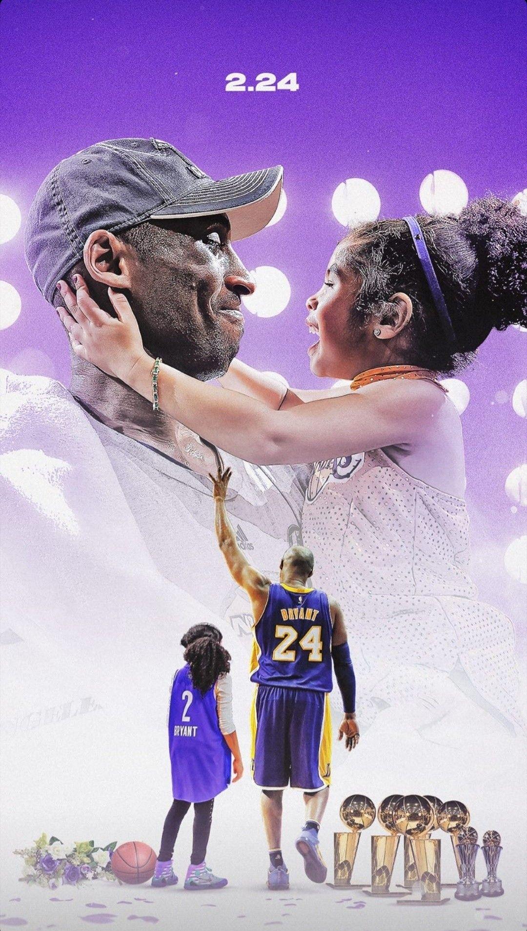 Kobe and Gigi Bryant wallpaper Kobe bryant pictures Kobe bryant 1080x1906