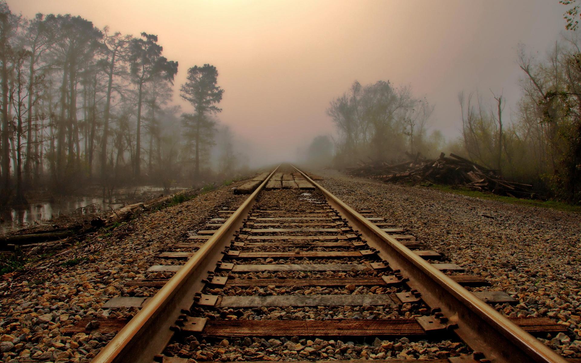 railroad tracks Wallpaper HD Wallpapers 1920x1200