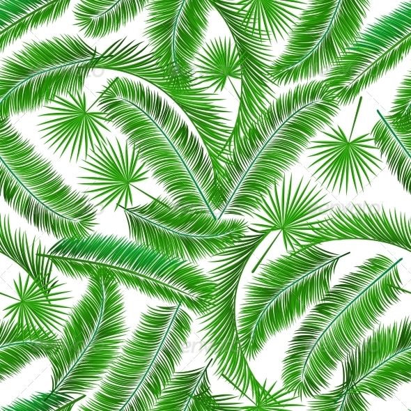 Tropical palm tree seampless pattern background template vector 590x590