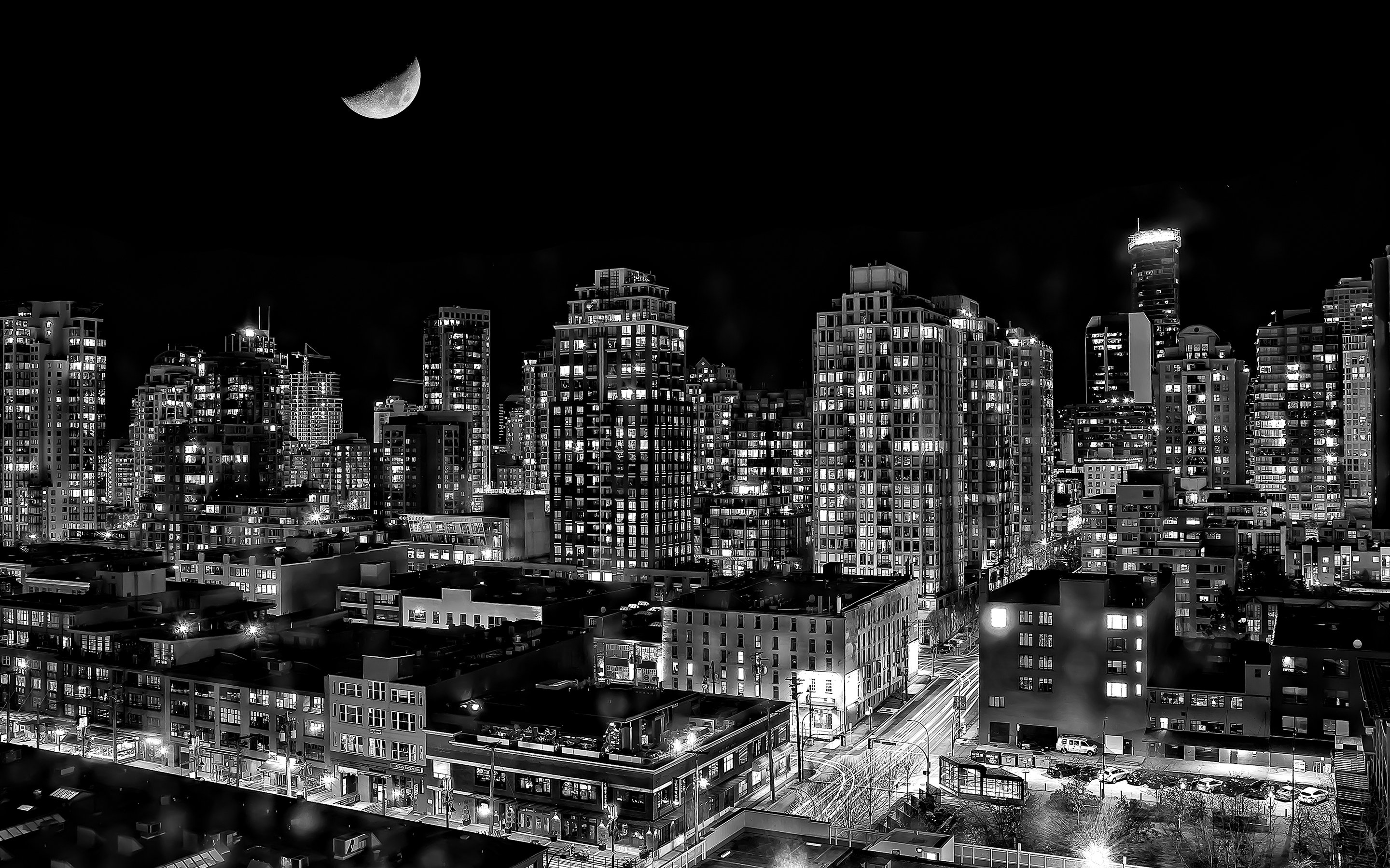 78 Black And White City Wallpaper On