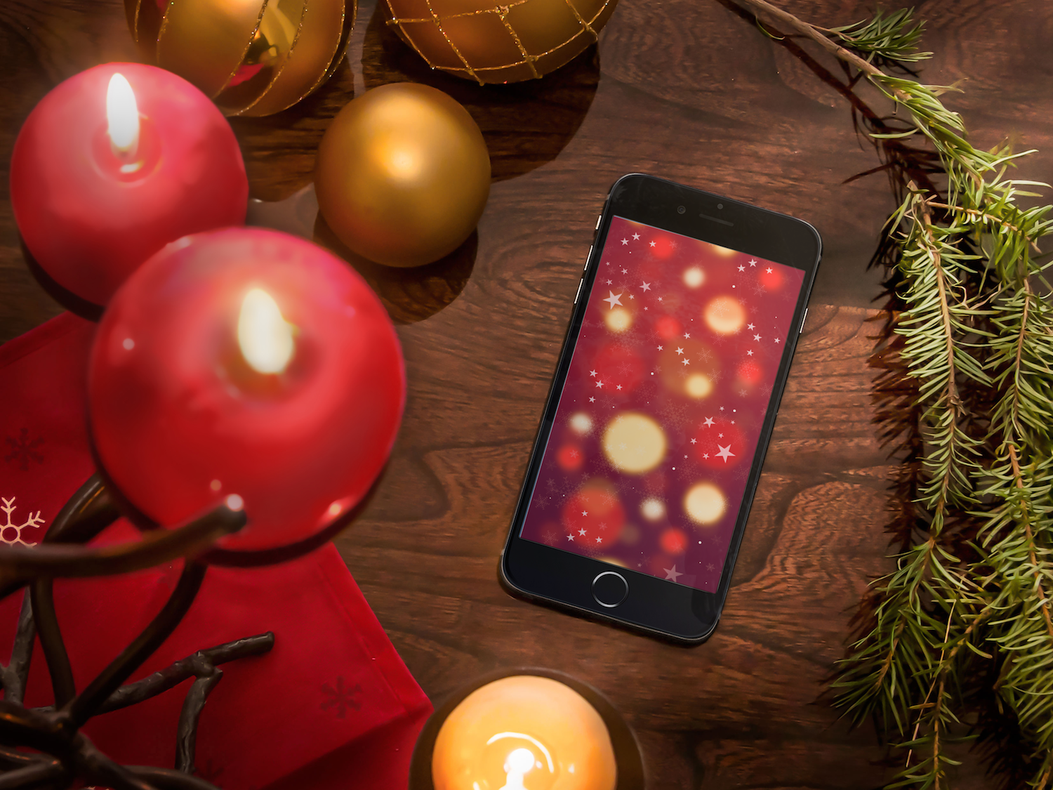 Snowy winter Christmas wallpapers for iPhone 1500x1125