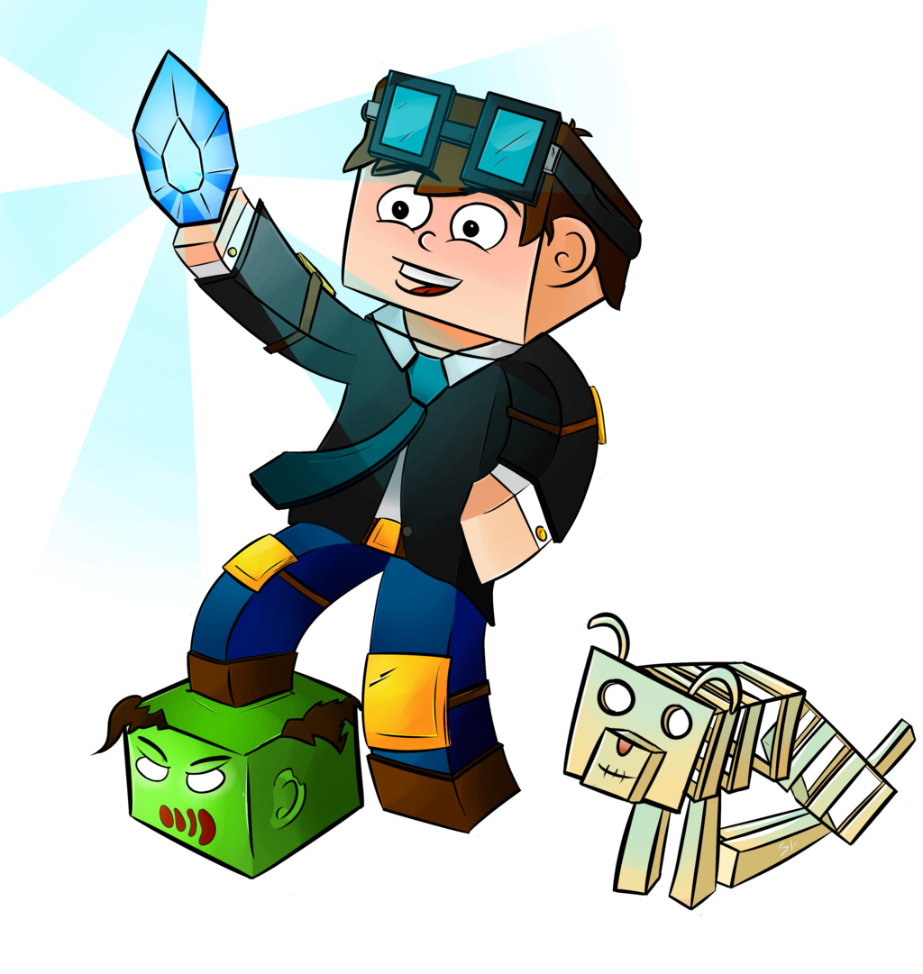 DanTDM Minecraft ARTwork by SerranoYT 1024x1081