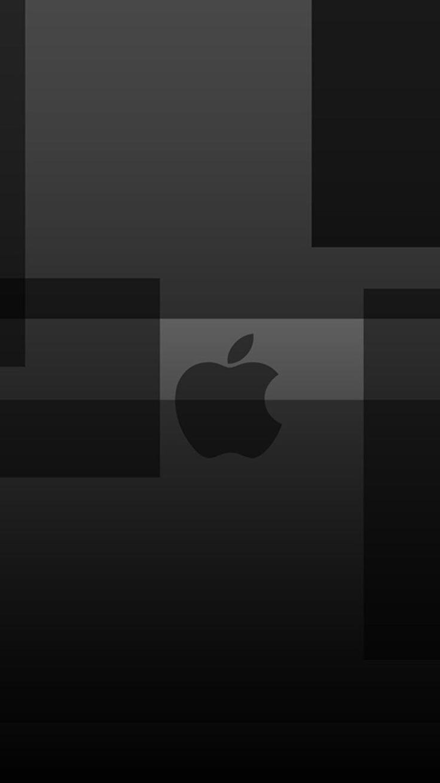 On Black Background iPhone Logo   LogoDix 736x1309