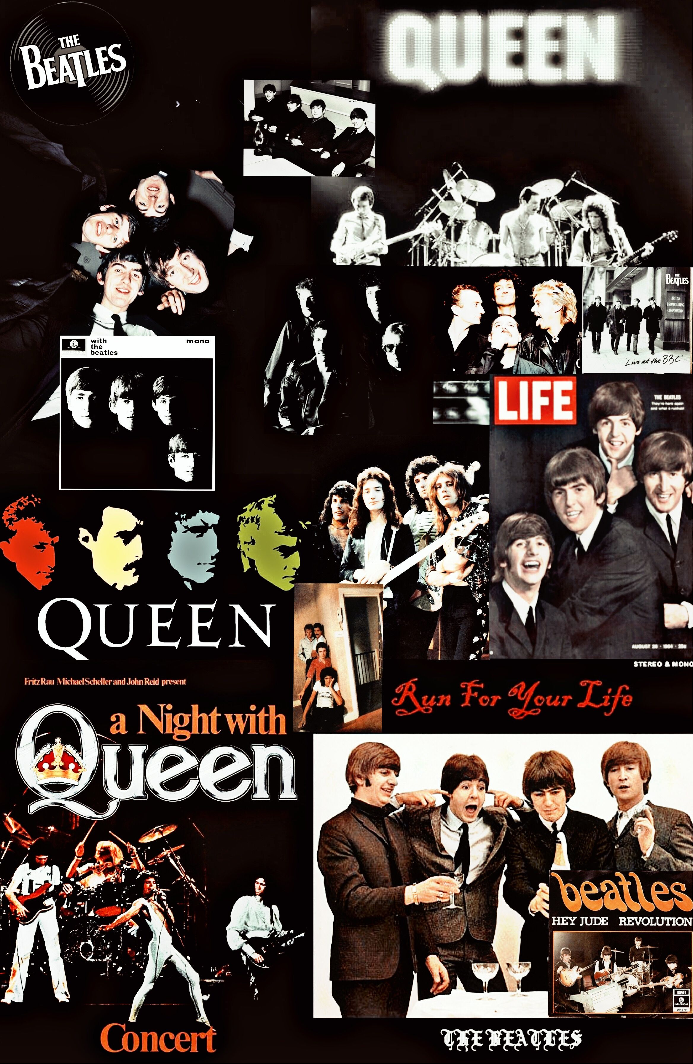 Free Download Queen X The Beatles Wallpaper Queen Queenband