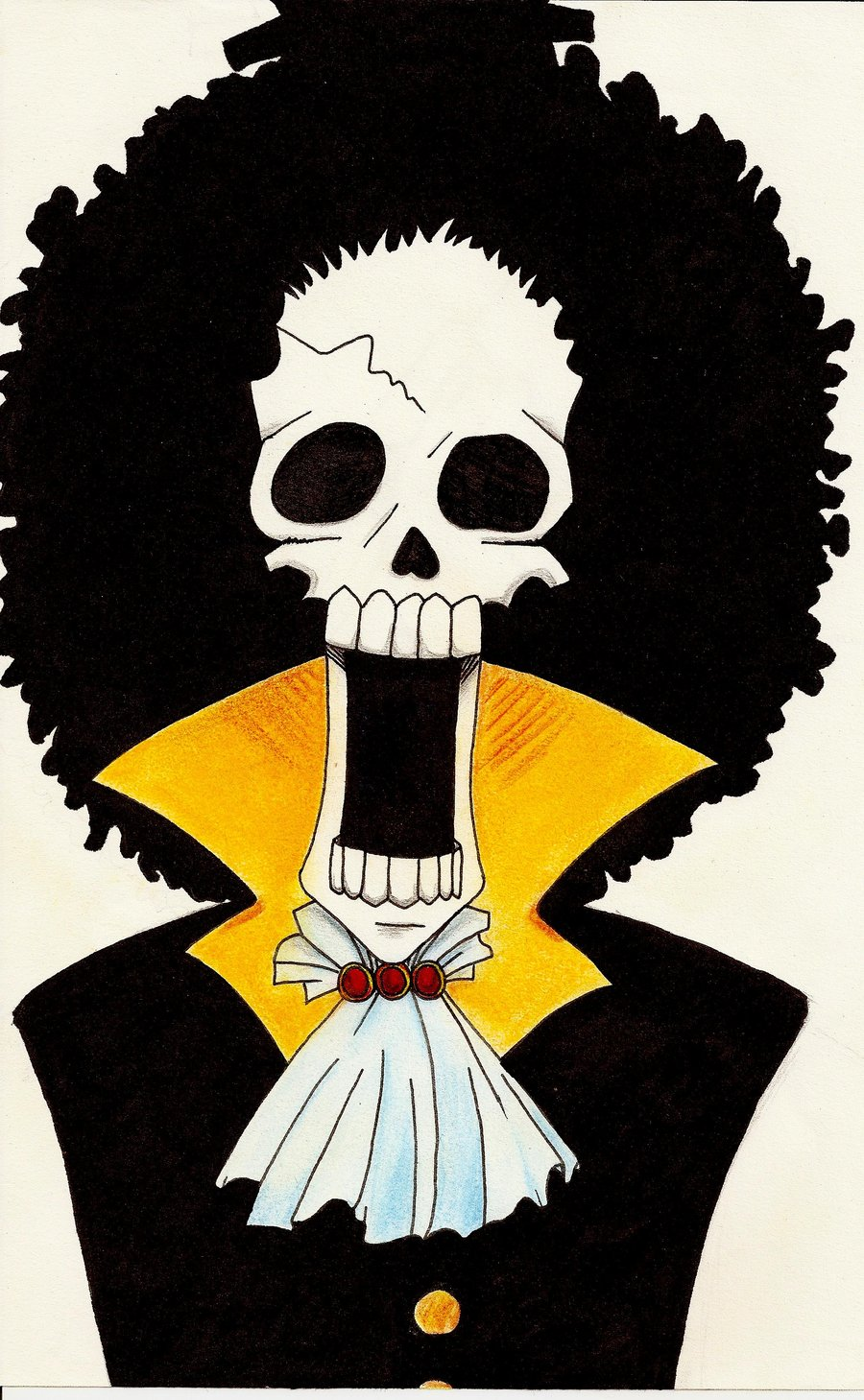 Brook from One Piece by Canardoux 900x1459