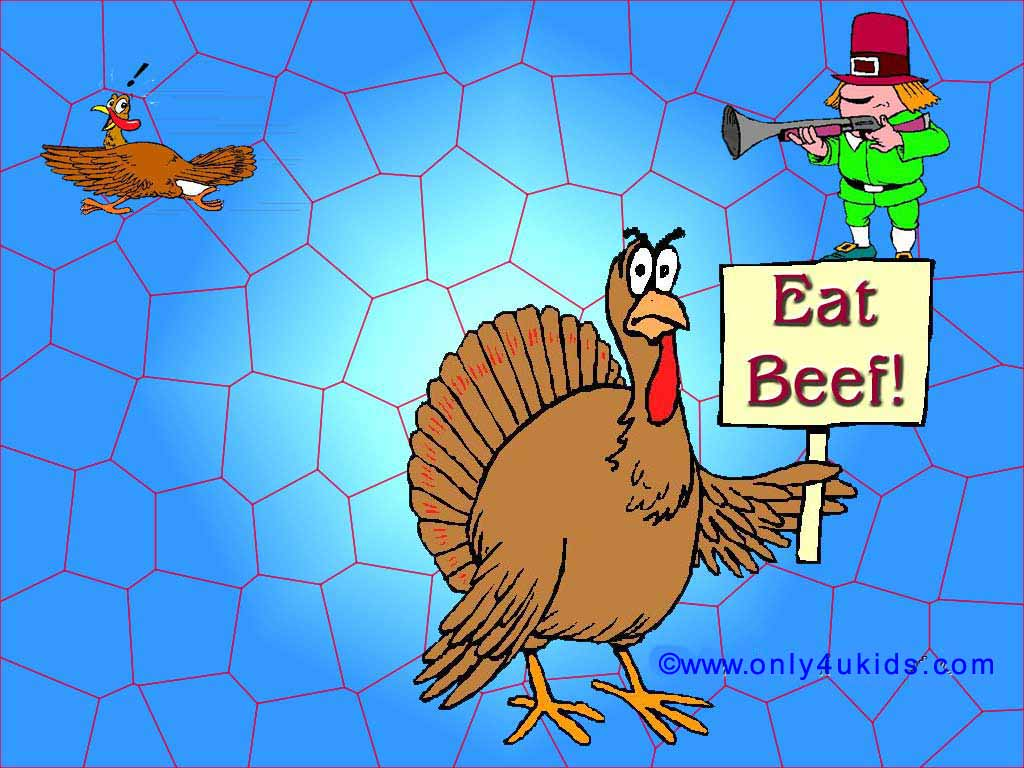 Animation Pictures Wallpapers Funny Thanksgiving Wallpapers 1024x768