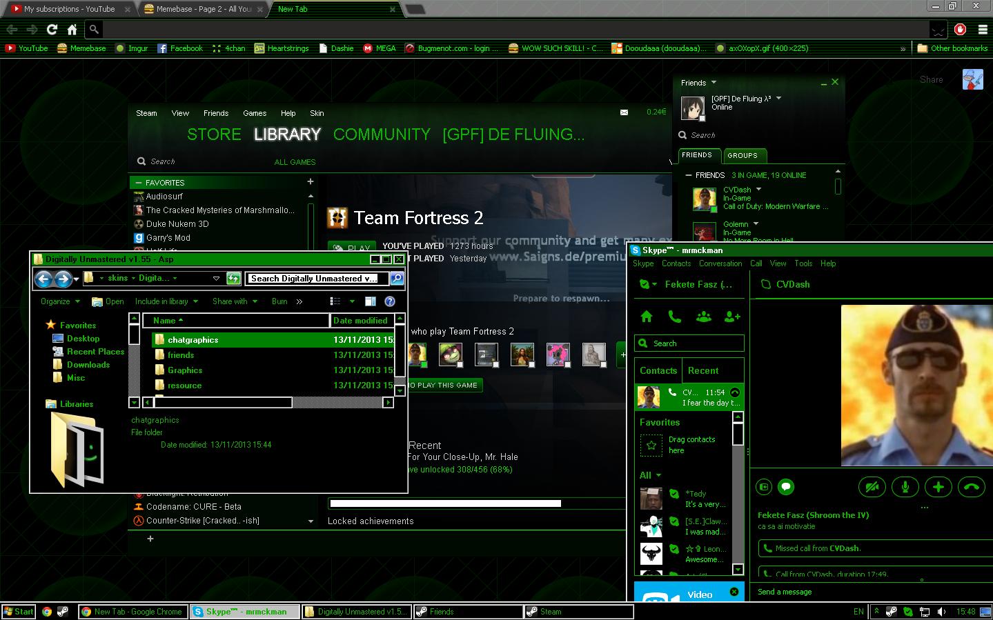 Windows 7 8 10] Virtual Matrix Theme by xFluing 1439x899