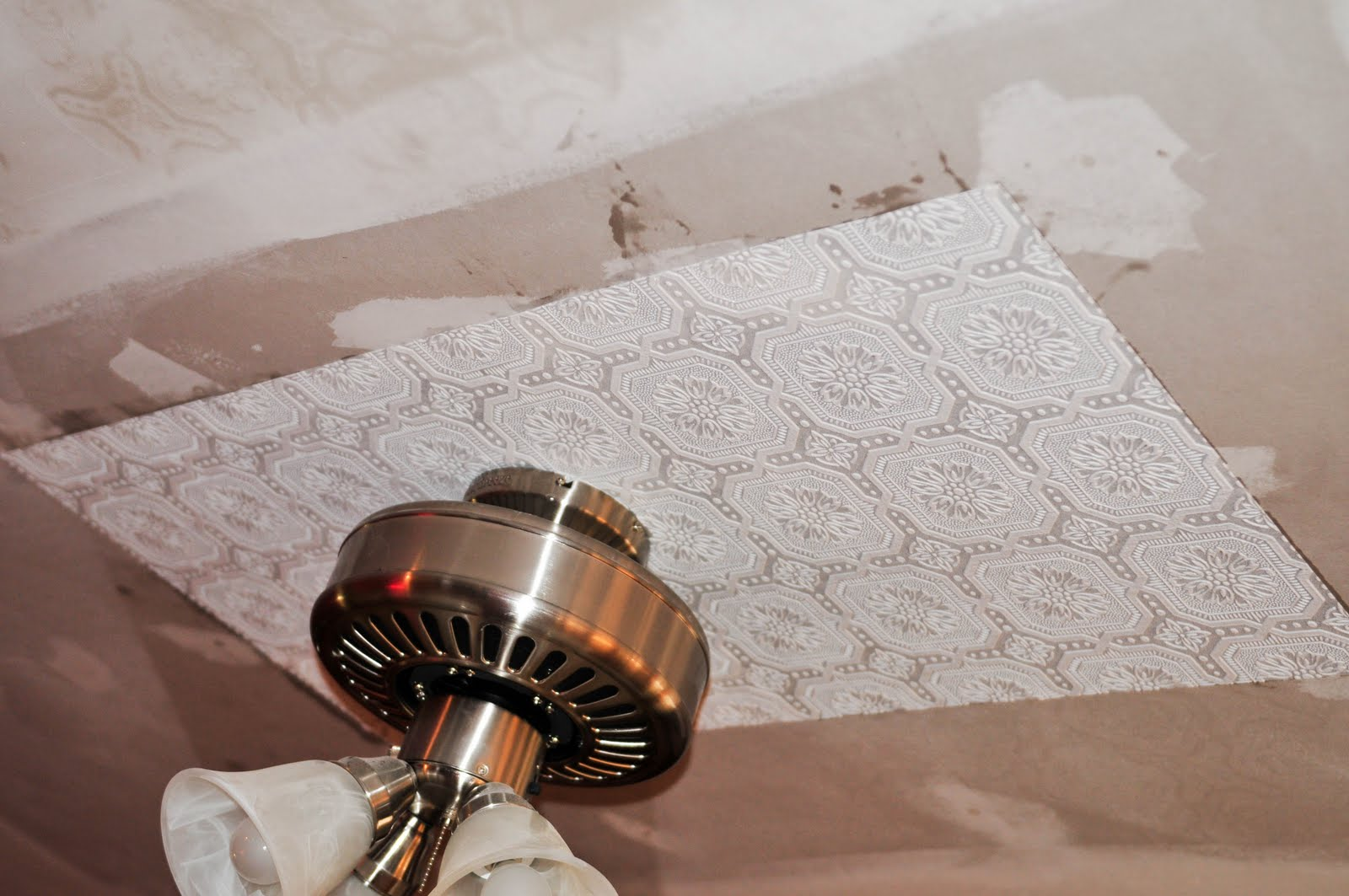 Can you wallpaper ceiling tiles wallpapersafari - Can you wallpaper drop ceiling tiles ...