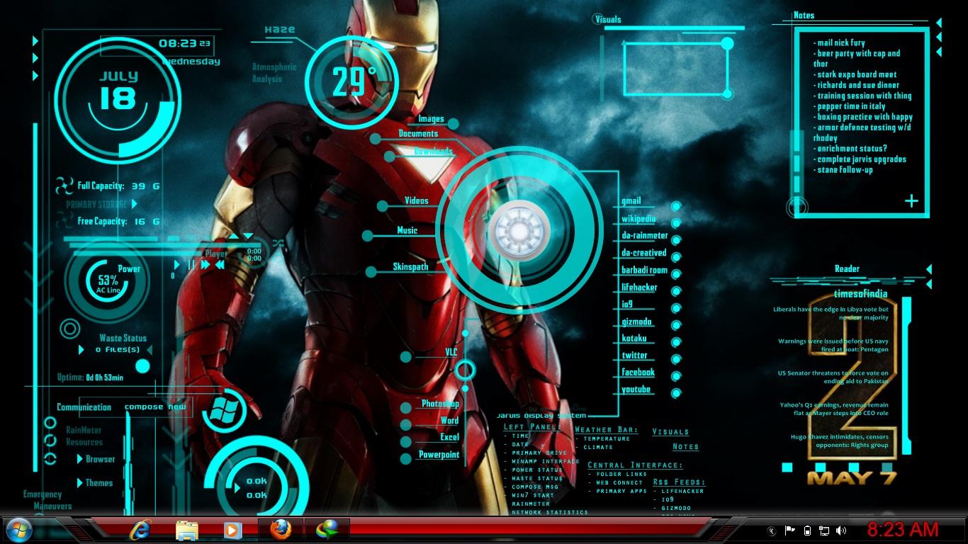 iron man jarvis live wallpaper wwwpixsharkcom images