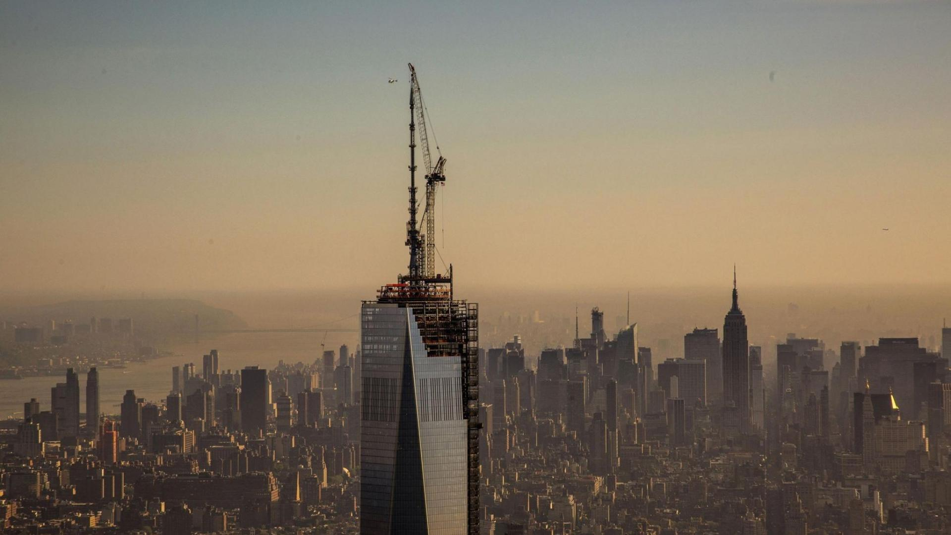 Unfinished freedom tower one world trade center wallpaper 65515 1920x1080