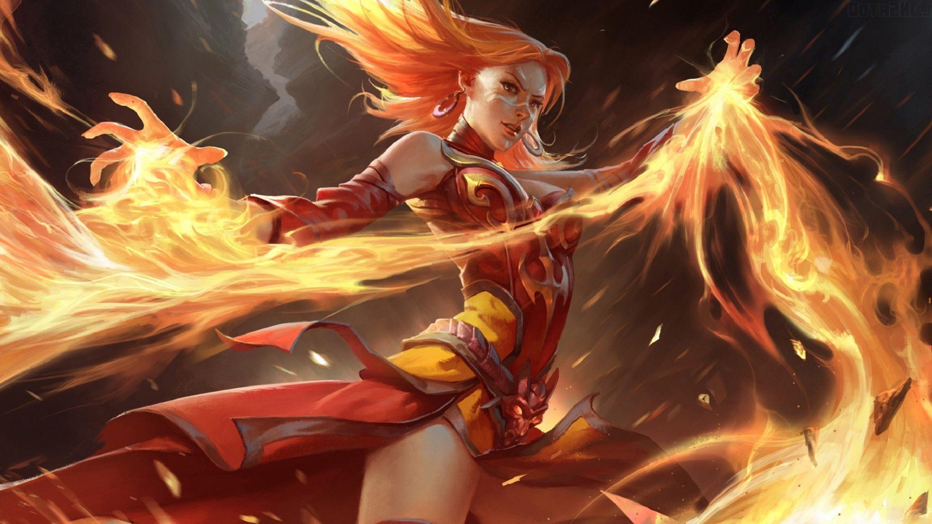 dota 2 lina 3d 2015   Defense of The Ancients Games 1920x1080