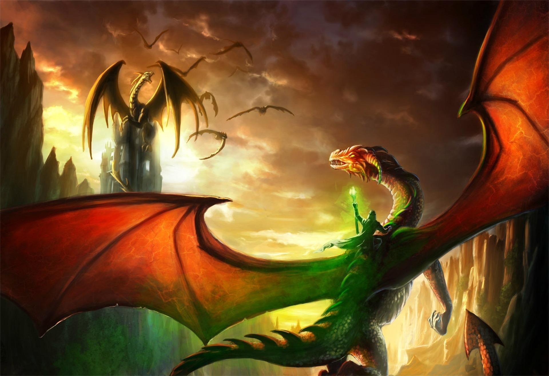 free dragon and wizard wallpaper wallpapersafari