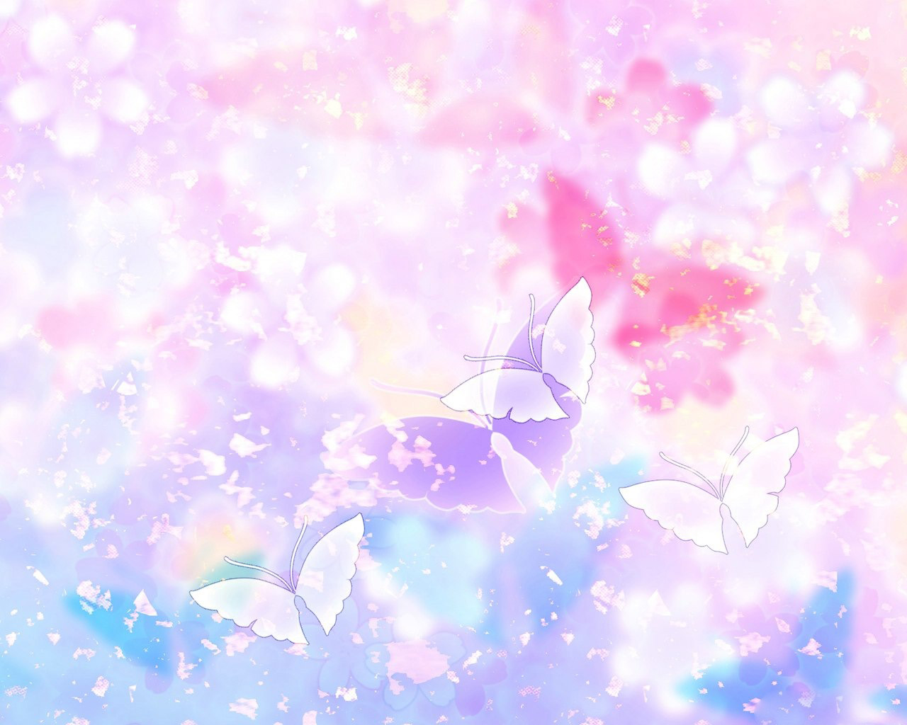 Flowers and Butterflies clipart desktop hd Wallpaper High 1280x1024