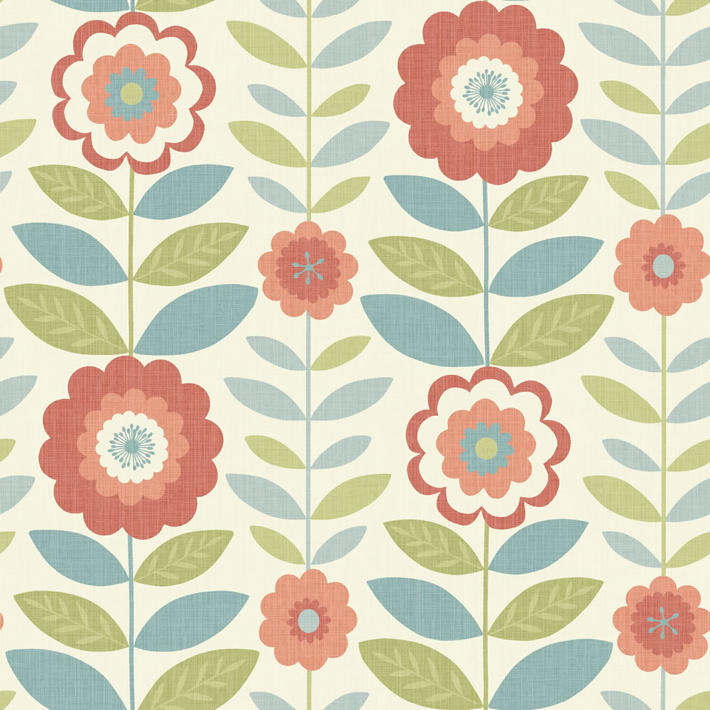 41 Coral Flowered Wallpaper On Wallpapersafari