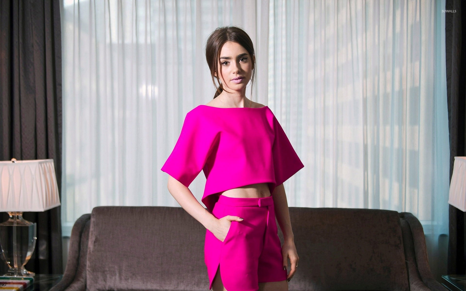 Lily Collins wallpaper   Celebrity wallpapers   34225 1680x1050