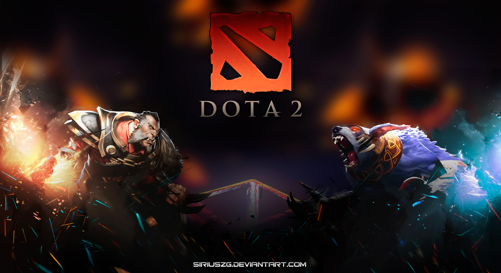 Hd wallpaper dota 2 - Banehallow And Ursa Warrior Ulfsaar Dota 2 Game Hd Wallpaper 1920x1080